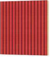 Red Striped Pattern Design Wood Print