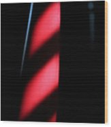Red Stripes Wood Print