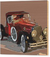 Red Stutz Wood Print