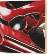 Red Stylish Accessories Wood Print