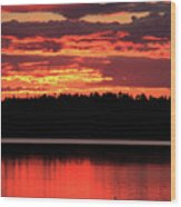 Red Summer Eve Wood Print