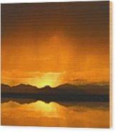 Red Sun Down Wood Print