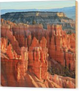 Red Sunrise Glow On The Hoodoos Of Bryce Canyon Wood Print