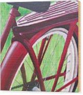 Red Super Cruiser Bicycle Wood Print