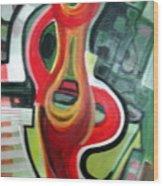 Red Symbol Wood Print