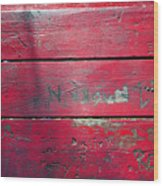 Red Table Wood Print