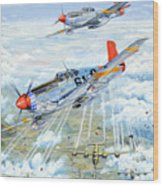 Red Tail 61 Wood Print by Charles Taylor