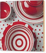 Red Teapot Wood Print by Garry Gay