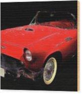 Red Thunder Wood Print