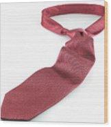 Red Tie Wood Print