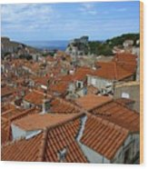 Red Tiled Roofs Of Dubrovnik Wood Print