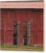 Red Tobacco Barn Wood Print