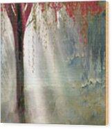 Red Tree 1  Wood Print