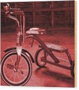 Red Trike Wood Print