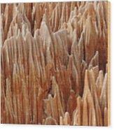 red Tsingy Madagascar 4 Wood Print