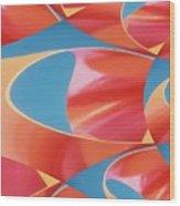 Red Tubes Wood Print
