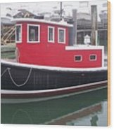 Red Tug Wood Print