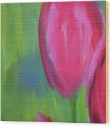 Red Tulips 2 Wood Print