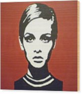Red Twiggy Wood Print by Ruth Oosterman