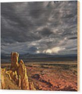 Red Valley Wood Print