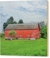 Red Vermont Barn Wood Print