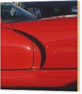 Red Viper Wood Print
