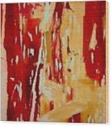 Red Visions Wood Print