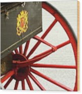 Red Wheel Wood Print