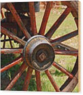 Red Wheels Wood Print