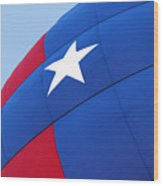 Red White And Blue Balloon Wood Print