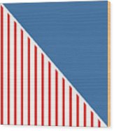 Red White And Blue Triangles Wood Print