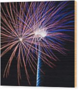 Red White And Boom Wood Print
