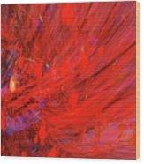 Red Wind Wood Print