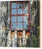 The Red Window Wood Print