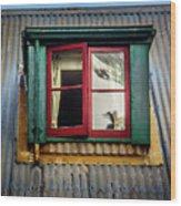 Red Windows Wood Print