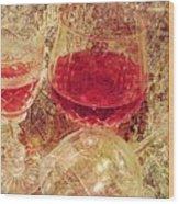 Red Wine 3 Wood Print