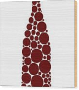 Red Wine Bottle Wood Print
