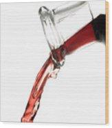 Red Wine Wood Print by Frank Tschakert