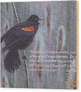 Red Wing Blackbird Wood Print