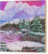 Red Winter Berries Wood Print