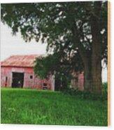 Red Wood Barn Wood Print