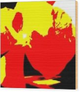 Red Yellow Abstract Wood Print