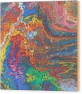 Red Yellow Blue Abstract Wood Print