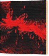 Red Zone Wood Print