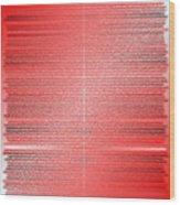 Red.4 Wood Print