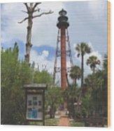 Redbrick Path To The Lighthouse Wood Print