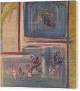 Redbud And Oak Wood Print
