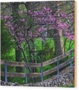 Redbud Corner Wood Print