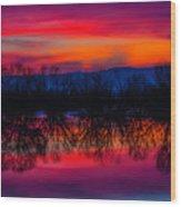 Reddening Sunset Wood Print