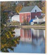 Redd's Pond Boathouse Marblehead Ma Massachusetts Wood Print
